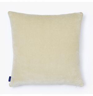 Housse de coussin en velours beige - 30 x 50 cm