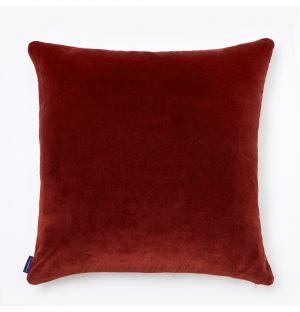 Housse de coussin en velours bordeaux - 50 x 50 cm