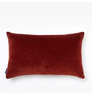 Housse de coussin en velours bordeaux - 30 x 50 cm