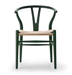 Chaise verte Wishbone CH24 - édition spéciale