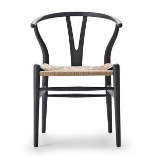 Chaise grise Wishbone CH24 - édition spéciale