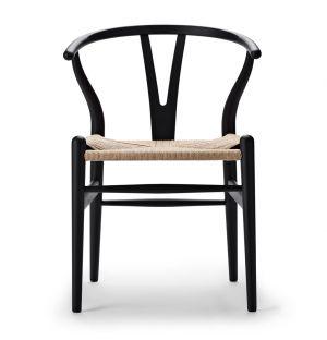 Chaise noire Wishbone CH24 - édition spéciale