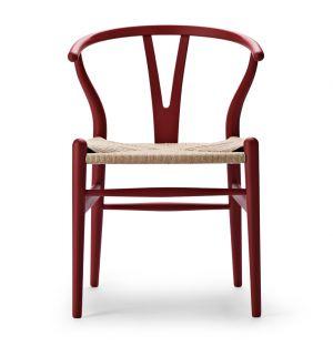 Chaise rouge Wishbone CH24 - édition spéciale
