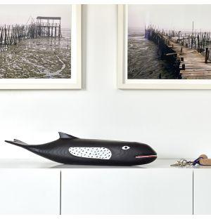 Eames House Whale en bois d'aulne