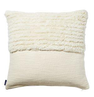 Housse de coussin Katachi blanche en coton