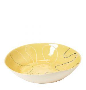 Plat jaune en céramique