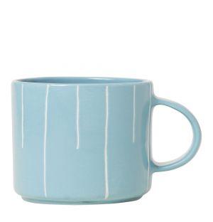 Mug en grès bleu ciel