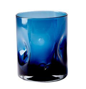 Verre Dimpled bleu