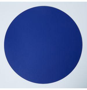 Set de table rond en cuir recyclé bleu Conran