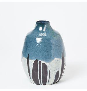 Vase Kinki Drip bleu