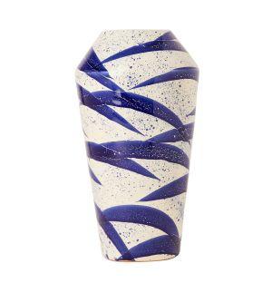 Vase Splatter bleu