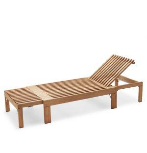 Chaise longue en teck Riviera
