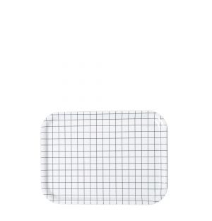 Plateau rectangulaire blanc - Small