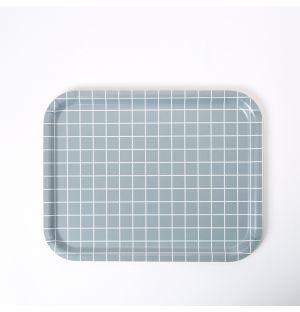 Plateau rectangulaire gris - Medium