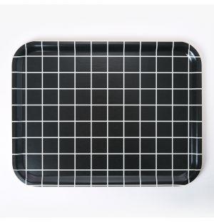Plateau rectangulaire noir - Large