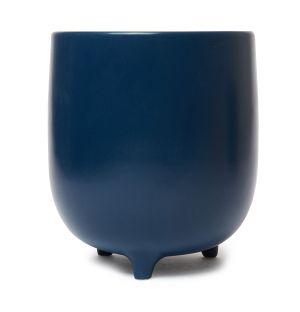 Cache-pot Piede en céramique bleu marine