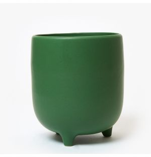 Cache-pot Piede en céramique verte