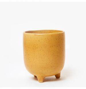 Cache-pot Piede en céramique jaune