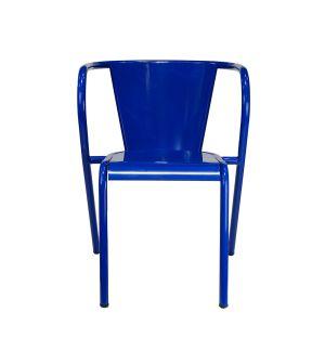 Chaise Portuguesa 5008 en métal bleu - Modèle d'exposition