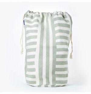 Sac à linge en coton vert clair