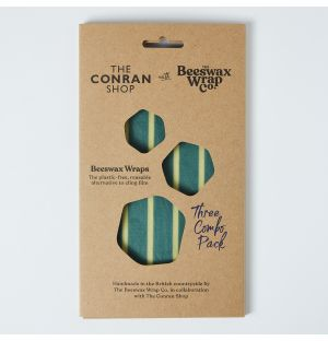 Emballage alimentaire bleu en cire d'abeille x 3