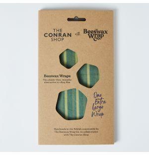 Emballage alimentaire bleu en cire d'abeille x 5