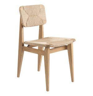 Chaise C-Chair en chêne et corde tressée