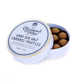 Truffes au chocolat noir et caramel beurre salé