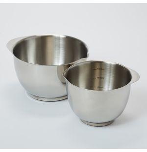 Saladiers en acier inoxydable S/2 - 1,5 L et 3 L