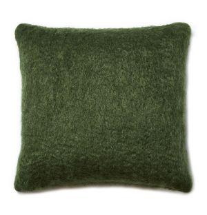 Housse de coussin en mohair vert - 50 x 50 cm