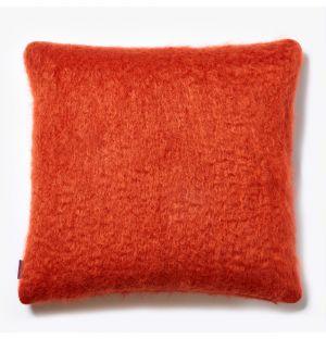 Housse de coussin en mohair orange - 50 x 50 cm