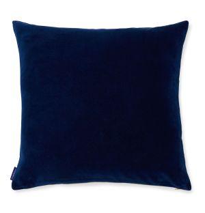 Housse de coussin en velours bleu foncé - 50 x 50 cm