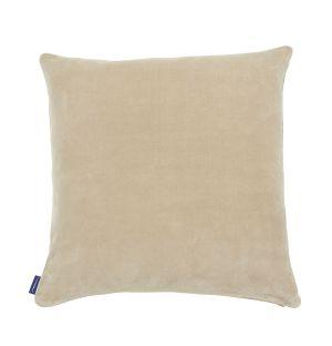 Housse de coussin en velours beige - 50 x 50 cm