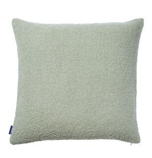 Housse de coussin en coton flammé menthe - 50 x 50 cm