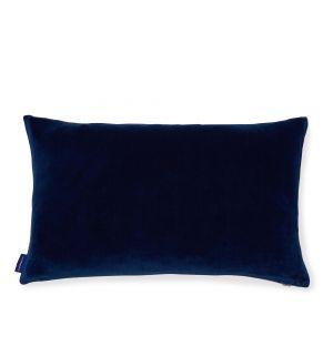 Housse de coussin en velours bleu foncé - 30 x 50 cm
