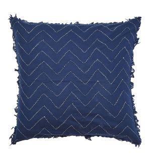 Housse de coussin Denali brodée bleu - 50 x 50 cm