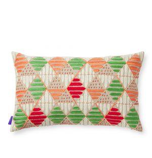 Housse de coussin Dammam rouge et verte - 30 x 50 cm
