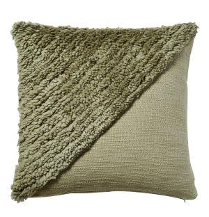 Housse de coussin Katachi kaki en coton - 50 x 50 cm