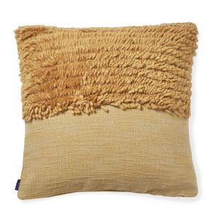Housse de coussin Katachi ocre en coton - 50 x 50 cm