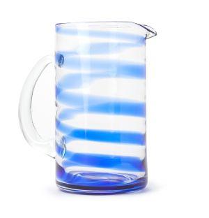 Carafe Swirl bleue