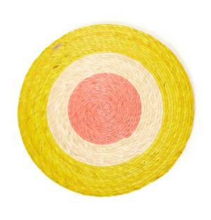 Set de table tressé jaune et orange