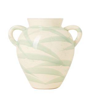 Vase Splatter vert clair