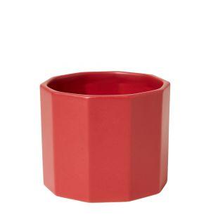 Pot hexagonal rouge