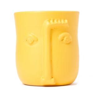 Cache pot Visage jaune