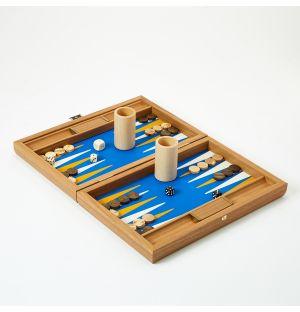 Jeu de backgammon bleu royal