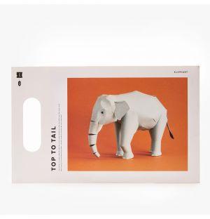 Éléphant à assembler Top To Tail