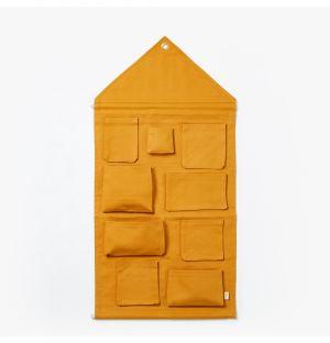 Rangement mural jaune