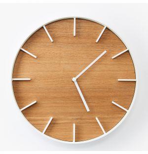 Horloge murale Rin en frêne - blanc
