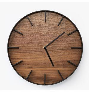 Horloge murale Rin en frêne - noir