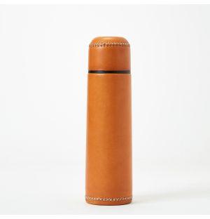 Thermos en cuir camel - 500 ml